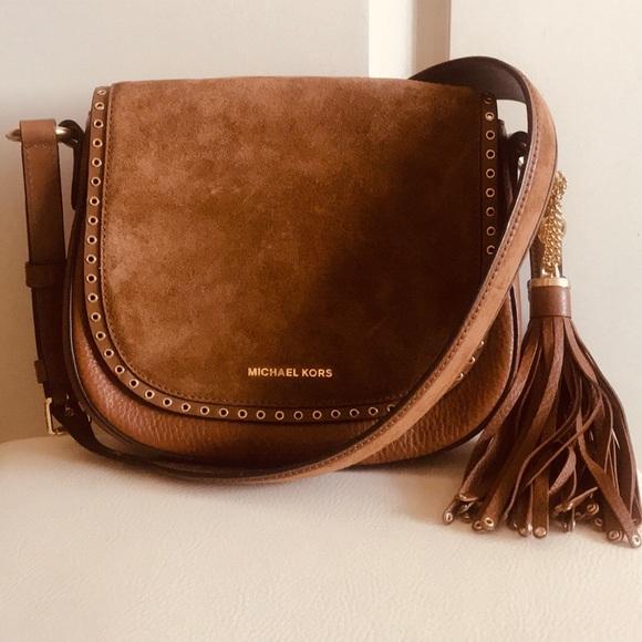 f5b7ea627b9a Michael Kors Bags | Brooklyn Leather Saddlebag | Poshmark